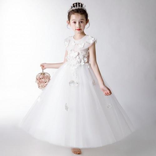 雨出童�b精美花童裙,�每��小公主都能成�槿��龅慕裹c