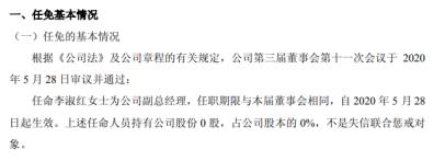 中拓石油任命李淑红为公司副总经理 不持有公司股份