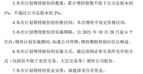 基于对公司未来持续稳定发展的信心 漳州发展控股股东福建漳龙拟增持公司股份